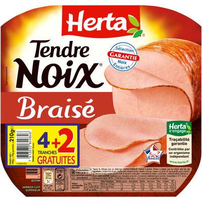 Herta tendre noix jambon braisé x4+2t gratuites - 210g (Herta)