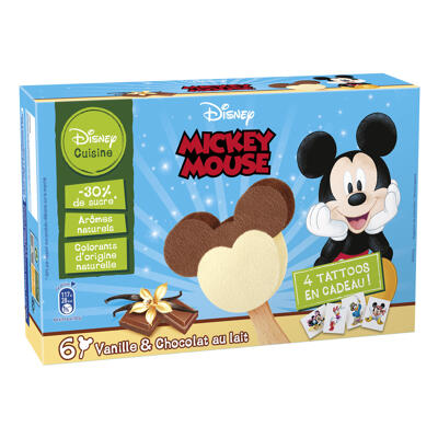Batonnets mickey 6x50ml 168grs (Disney)