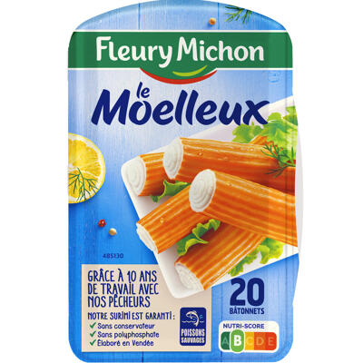 20 bâtonnets surimi moelleux (Fleury michon)
