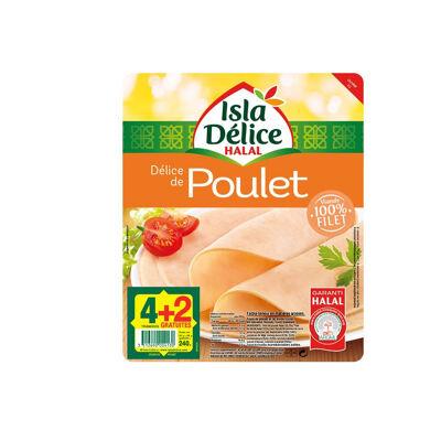 Délice de poulet - 4 tranches + 2gt - 240g (Isla délice)