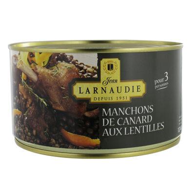 Manchons de canard au lentilles 1240g (Jean larnaudie)
