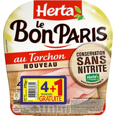 Herta le bon paris conservation sans nitrite au torchon x4+1t gratuite - 175g (Herta)