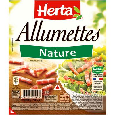 Herta allumettes nature barquette sécable 2x100g - 200g (Herta)