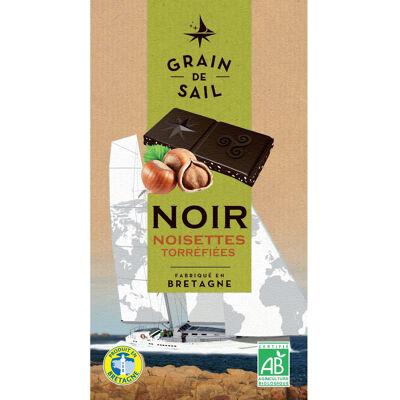 Tablette de chocolat noir 62 % et noisettes torrefiees - 100g - fr bio 13 - grain de sail (Grain de sail)