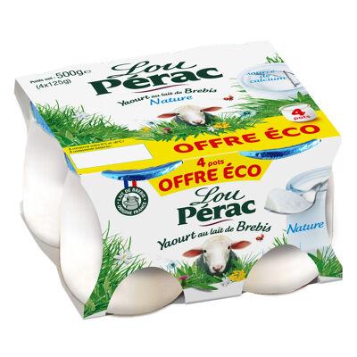 Lou perac yaourt au lait de brebis nature 4x125g offre eco (Lou pérac)