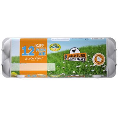 12 œufs plein air source d'omega 3 les éleveurs des hauts-de-france (Les eleveurs des hauts de france)