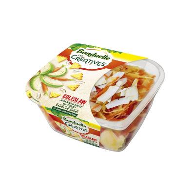 Les créatives - coleslaw ananas et noix de coco - sauce au curry (Bonduelle)