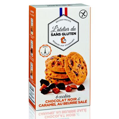 Cookies au chocolat noir et caramel au beurre salé sans gluten (L'atelier du sans gluten)