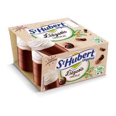 St hubert vegetal liegeois chocolat 4x100g (St hubert vegetal)