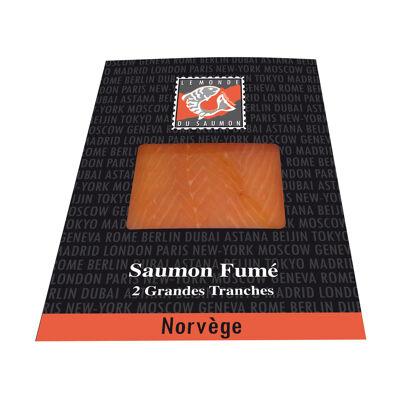 Saumon fumé norvège 2 tranches 80g le monde du saumon (Le monde du saumon)