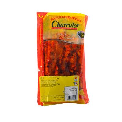 Poitrines de porc marinees x4 s/v 550 g environ (Charculor)