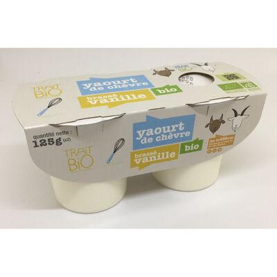 Yaourt de chevre biologique brasse vanille x2 (La lémance)