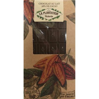 Chocolat au lait 38% de cacao (La plantation victoria)