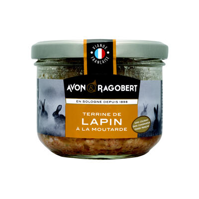 Verrine lapin moutarde a&r 180g (Avon & ragobert)