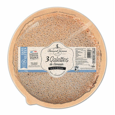 Bjc - 3 galettes de sarrasin au sel de guerande sans gluten (Bernard jarnoux crepier)