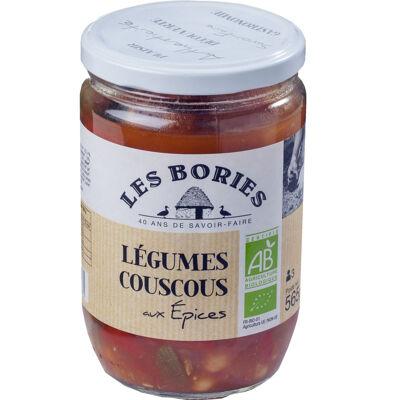 Legumes couscous aux epices - bio 565 g (Les bories)