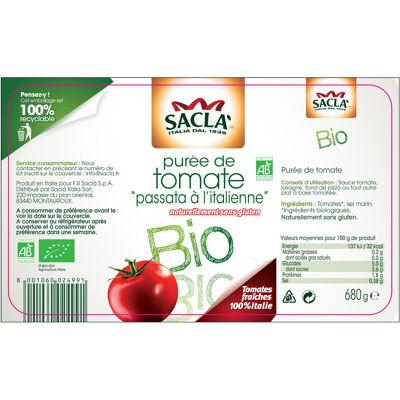 Sacla - puree de tomates bio sans gluten - 680 gr (Sacla)