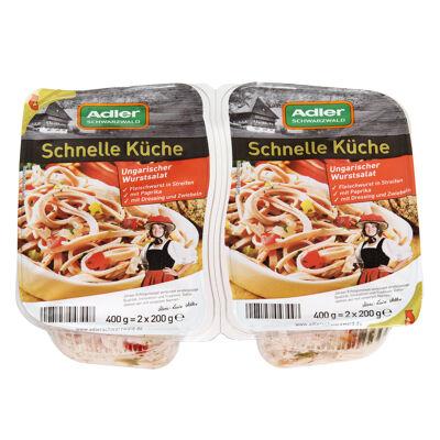 Emincé de saucisse de viande hongrois avec des poivrons 2x200g en emballage fraîcheur, poids fixe (Adler schwarzwald)