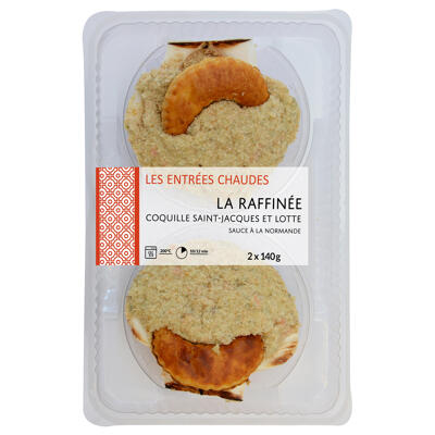 Coquille st jacques lotte 140 gr x 2 (Mix buffet)
