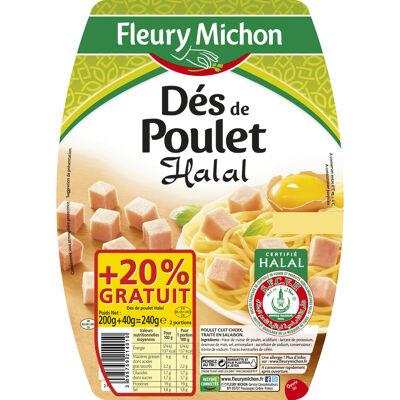 Des de poulet - halal 2 x 100 g + 20 % gratuits (Fleury michon)