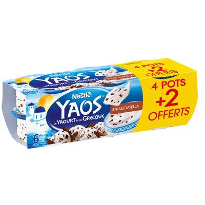 Yaos yaourt a la grecque stracciatella 4x125g + 2 pots offerts (Yaos)