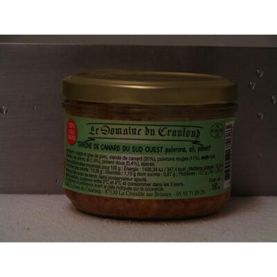 Terrine de canard du sud-ouest poivrons, ail, piment (Le domaine du crauloup)