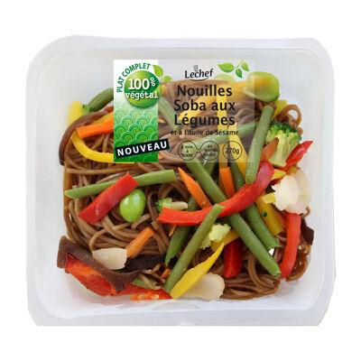 Nouilles soba aux légumes 270 gr (Lechef)