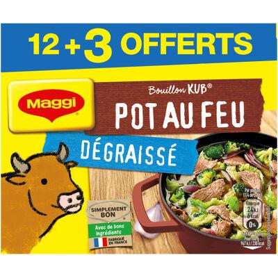 Maggi bouillon kub pot-au-feu dégraissé x12+3 cubes offerts (Maggi)