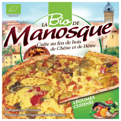 Pizza légumes cuisinés bio 380g (La pizza de manosque)