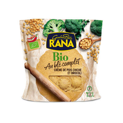 Rana ravioli bio creme de pois chiches et brocolis 250 grs (Rana)