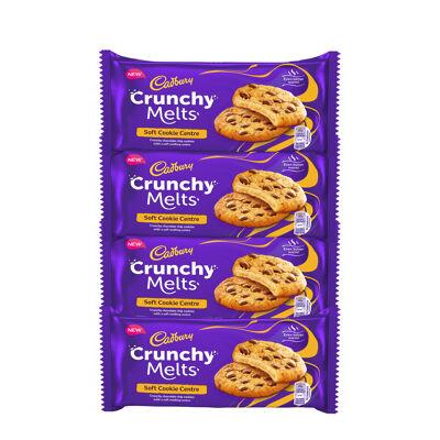 Lot crunchy melts coeur fondant 4x156g (Cadbury)