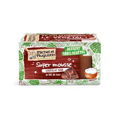 Mousse végétale au chocolat noir intense 2x70g (Michel et augustin)