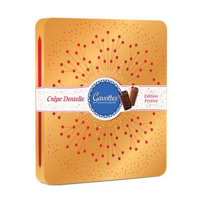 Coffrets rubis crêpes dentelle choc au lait et choc noir orange 420g gavottes (Gavottes)