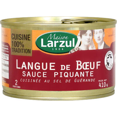 Langue de bœuf sauce piquante cuisinée au sel de guérande (Larzul)
