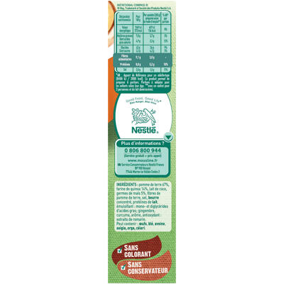Mouslinepurée quinoa et pommes de terre - 2 sachets de 3/4 personnes - 2x100g (Mousline)