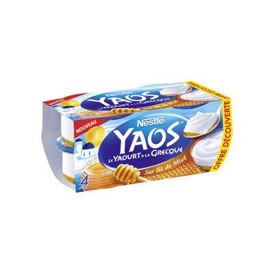 Yaos yaourt a la grecque nature sur lit de marron 4x125g (Yaos)