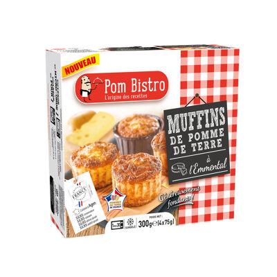 Muffin de pomme de terre a l'emmental 4x75g pom bistro (Pom bistro)