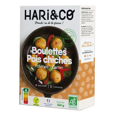 Boulettes pois chiches bio 240g (16x15g) (Hari&co)