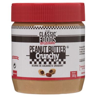 Beurre de cacahuete crunchy classic foods 340g (Classic foods of america)