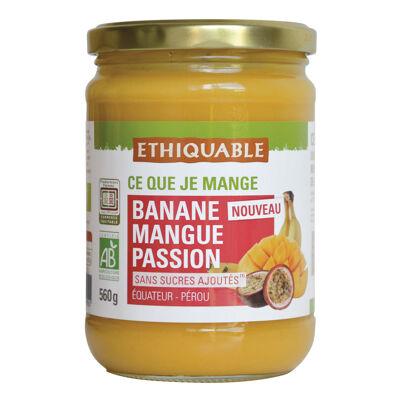 Puree banane mangue passion bio 560g (Ethiquable)
