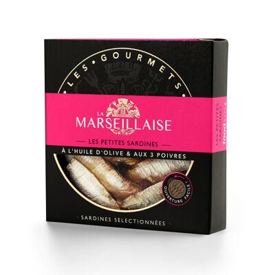 La marseillaise sardines h.o. 3 poivres 120g (La marseillaise)
