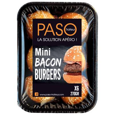 6 mini bacon burger 240g (Paso)