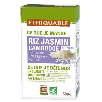 Riz jasmin blanc cambodge bio et commerce equitable 500g (Ethiquable)