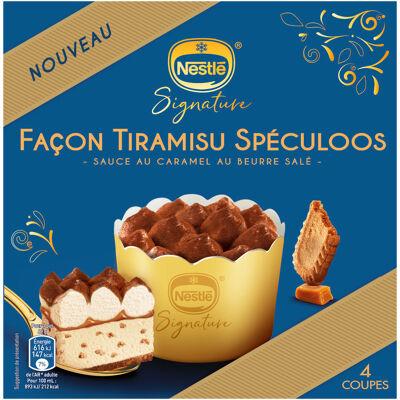 Dessert individuel tiramisu speculoos x4 276g (Nestle)