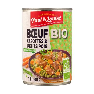 1/2 boeuf carottes & petits pois bio paul & louise (Paul & louise)