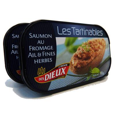 Lot de 2 tartinables saumon au fromage ail & fines herbes (Le tresor des dieux)
