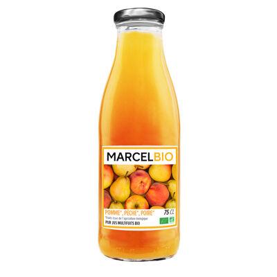 Marcel bio - 100% pur jus multifruits de pomme pêche poire bio (Marcel bio)