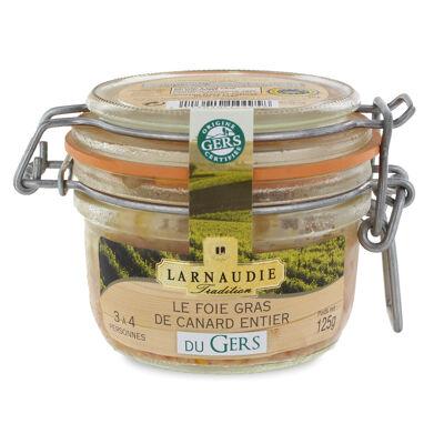 Foie gras de canard entier du gers bocal 180g (Larnaudie tradition)