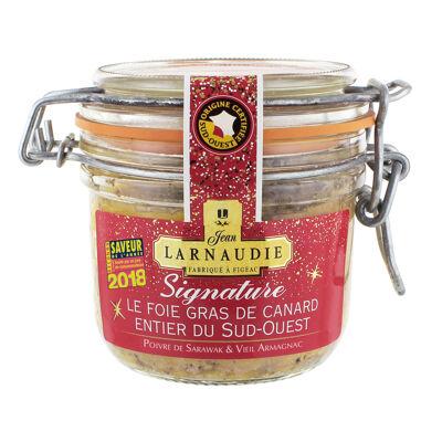 Foie gras de canard entier du sud-ouest la signature bocal 180g (Jean larnaudie)