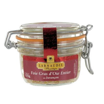 Foie gras d'oie entier au jurançon bocal 125g (Larnaudie prestige)